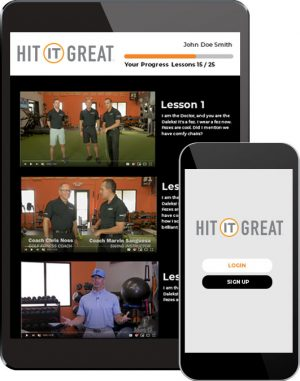 devices streaming golf fitness video